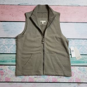 Eileen Fisher | NWT Ribbed Neck Vest | PS